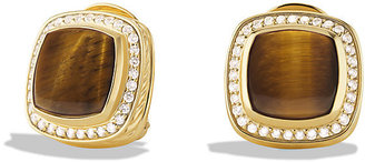 David Yurman Albion Earrings with Tiger's Eyes and Diamonds in Gold