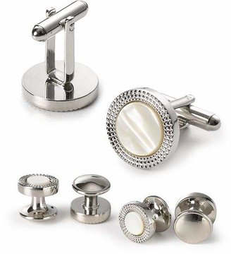 Bloomingdale's The Men's Store at Engraved Circle Stud & Cufflink Set - 100% Exclusive