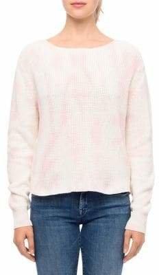 Line Paisley Tie-Dye Sweater