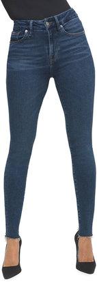 Good American Good Legs Raw-Edge Skinny Jeans - Inclusive Sizing