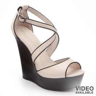 Lauren Conrad platform wedge sandals - women