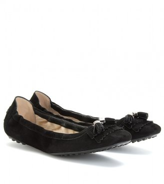 Tod's SUEDE TASSELED FLATS