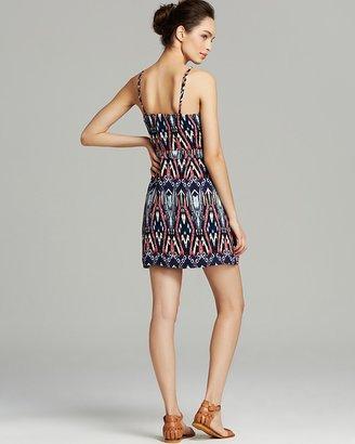 AQUA Dress - Spring Ikat Cami Crossover