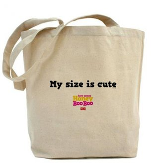Discovery Here Comes Honey Boo Boo My Size is Cute Tote Bag