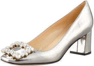 Kate Spade Dandy Specchio Low-Heel Pump, Pewter