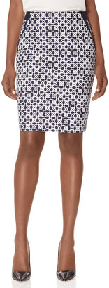 The Limited Overlapping Circles Pencil Skirt