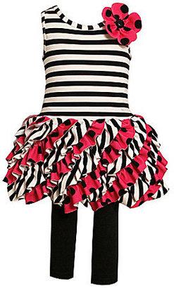 Bonnie Jean Girls 2T-6X Ruffle Skirt Set