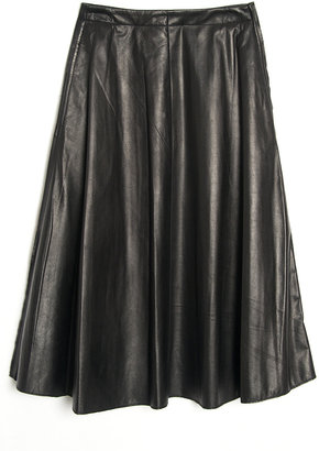 3.1 Phillip Lim Leather Pleat Skirt