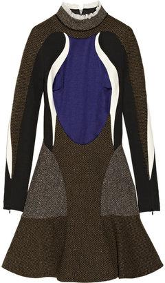 Stella McCartney Antonella tweed, stretch-crepe and satin dress