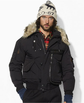 Polo Ralph Lauren Coat, Hooded Down-Filled Bomber Coat