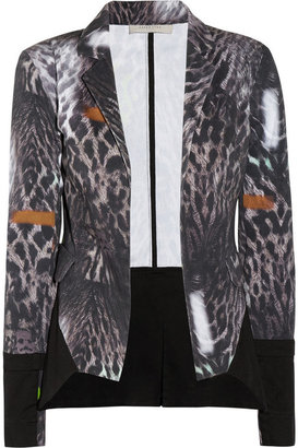 Preen Line Berry leopard-print stretch-cotton drill blazer
