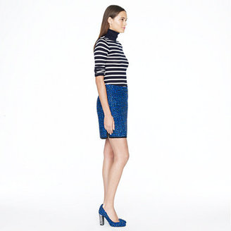 J.Crew Postage stamp mini in indigo tweed
