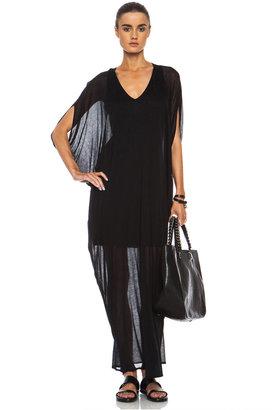 Helmut Lang Long Micro Modal Tunic Dress