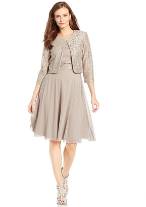 Jessica Howard Sleeveless Sequin Lace Dress and Jacket $119 thestylecure.com