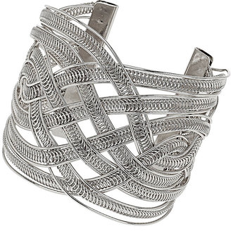 Topshop Silver Twisted Cuff