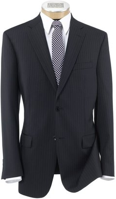 Jos. A. Bank Traveler Tailored Fit 2-Button Suit with Plain Front Trousers Extended Sizes