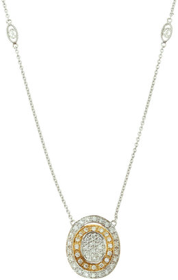 Charriol Two-Tone Pave-Diamond Gold Pendant Necklace