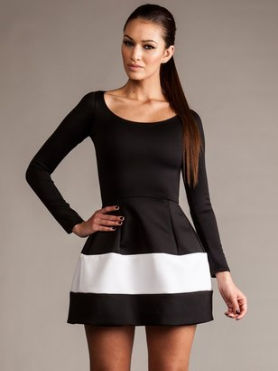 Boulee Marilyn Dress in Black and White as Seen On Jessica Lowndes and Kourtney Kardashian