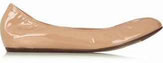 Lanvin - Patent-leather Ballet Flats - Beige $495 thestylecure.com