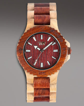 WeWood Watches Wooden Watch, Brown/Beige
