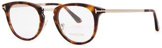 Tom Ford Tortoiseshell Oval-frame Optical Glasses