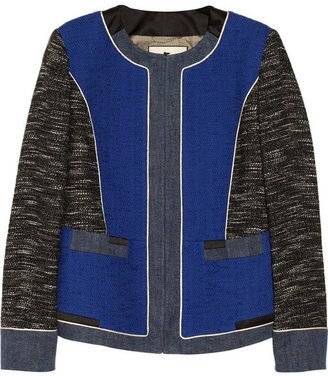 Etro Satin-trimmed cotton-blend tweed jacket
