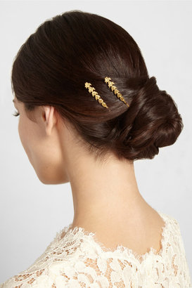 Jennifer Behr Anabel set of two gold-tone hair slides