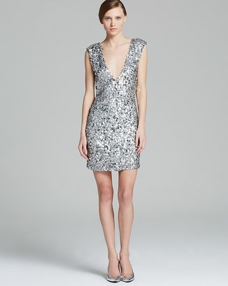 Alice + Olivia Dress - Sequin Low V