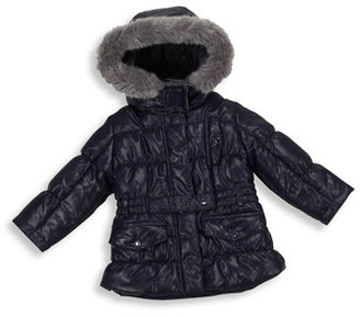 Bed Bath & Beyond Navy Blue Belted Jacket with Hood