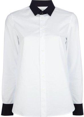 Saint Laurent contrast collar shirt