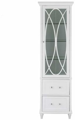 Elegant Home Fashions Laurel Linen Tower - White - 60