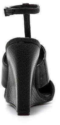 BCBGMAXAZRIA Lister Ankle Strap Wedges
