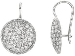 Lord & Taylor Diamond Drop Earrings in 14 Kt. White Gold