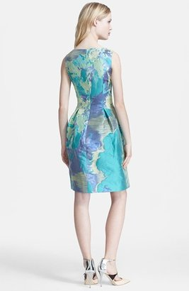 Lela Rose Jacquard Full Skirt Dress