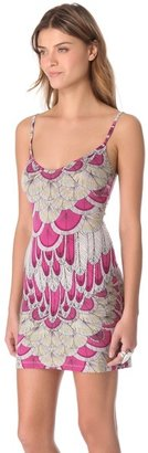 Mara Hoffman Feather Cover Up Mini Dress