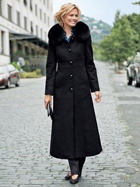Pendleton Fox Fur-collar Long Coat