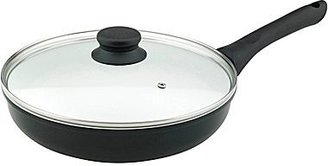 """JCPenney VinarozTM 11"""" Ceramic-Coated Deep Fry Pan + Glass Lid"""