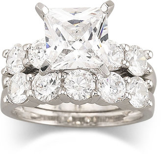 FINE JEWELRY DiamonArt Cubic Zirconia Engagement Ring Set $399.98 thestylecure.com