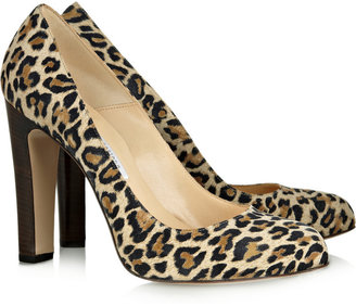 Tabitha Bionda Castana leopard-print suede pumps