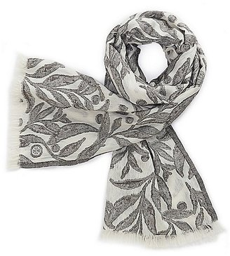 Tory Burch All-Over Feather Scarf