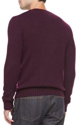 Vince Cashmere V-Neck Sweater, Magenta