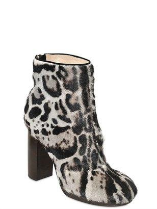 Christopher Kane 120mm Printed Ponyskin Boots