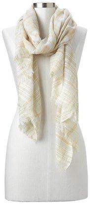 Gap Textural plaid scarf