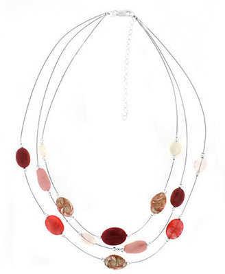 Lord & Taylor Sterling Silver & Multi-Blush Bead Necklace