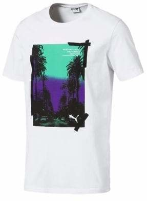 Puma Graphic Palms Photo Cotton Jersey Tee