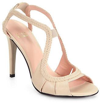 Stuart Weitzman Briana Woven Leather Sandals