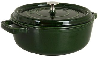 Staub Wide Round Oven - Shallow Cocotte 4 Qt. (Basil) - Home