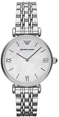 Emporio Armani Retro 2 Hand Stainless Steel Bracelet Watch