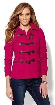 New York & Co. Wool-Blend Toggle Coat