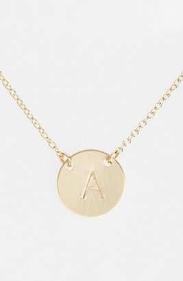 Women's Nashelle 14K-Gold Fill Anchored Initial Disc Necklace $78 thestylecure.com